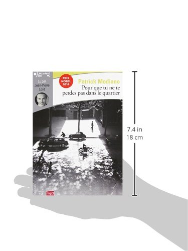 Pour que tu ne te perdes pas dans le quartier. MP3-CD (French Edition): Patrick Modiano: 9782070147823: Amazon.com: Books