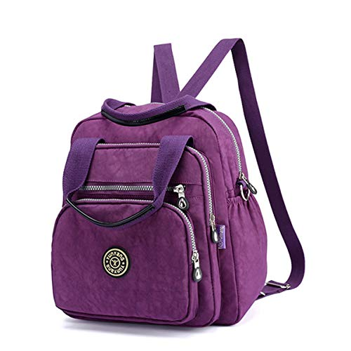 6c1d368d6 JOSEKO Fashion Shoulder Bag, Women Lady Nylon Multipurpose Backpack Travel  Shoulder Bag Dark Purple 11.02