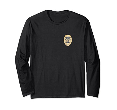 Unisex Security Officer Enforcement Badge Shirt Police Guards Small Black
