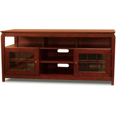 -Inch Wide Flat Panel TV Credenza - Walnut (Tech Craft Wood Finish Tv Stand)