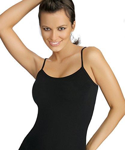 Gatta Body Camisole - eleganter Body mit Spaghettiträgern tiefer Ausschnitt hoher Tragekomfort ohne Seitennähte Nero 2gLAG8PnI