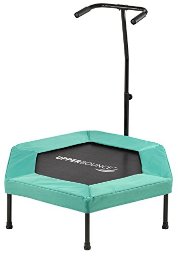 Cheap Upper Bounce Hexagonal Fitness Mini-Trampoline – T-Shaped Adjustable Hand Rail – Bungee Cord Suspension