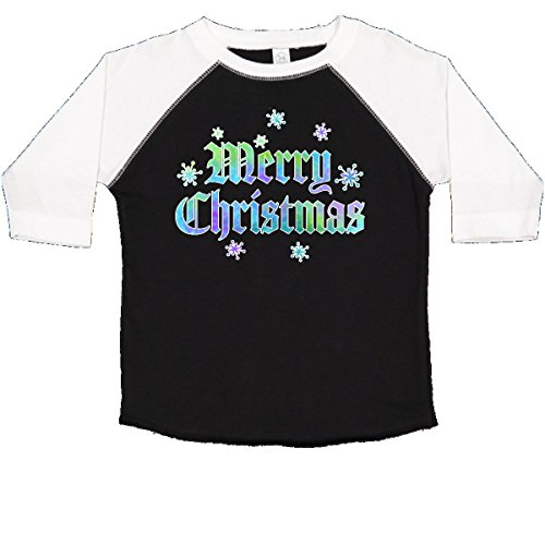 inktastic - Merry Christmas Gothic Toddler T-Shirt 4T Black and White 2d5a7 (Snow Gothic)