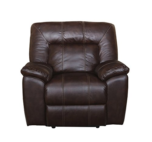 New Classic Furniture 20-398-13-BRW Thorton Glider Recliner, Manual, Durham Brown