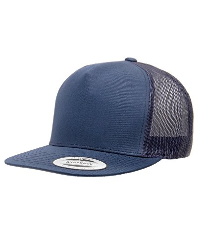 Navy Blue Hat Classic - Yupoong Five-Panel Classic Trucker Cap. 6006 - Navy