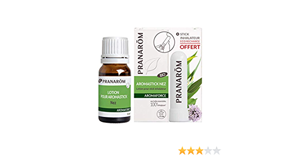 Pranarôm Aromaforce Lotion pour Stick Inhalateur 10ml + Aromastick