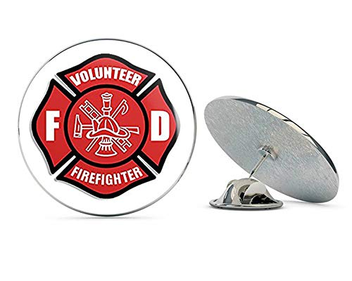 (NYC Jewelers Red Volunteer Firefighter Maltese Cross (fire Fighter Fireman) Metal 0.75