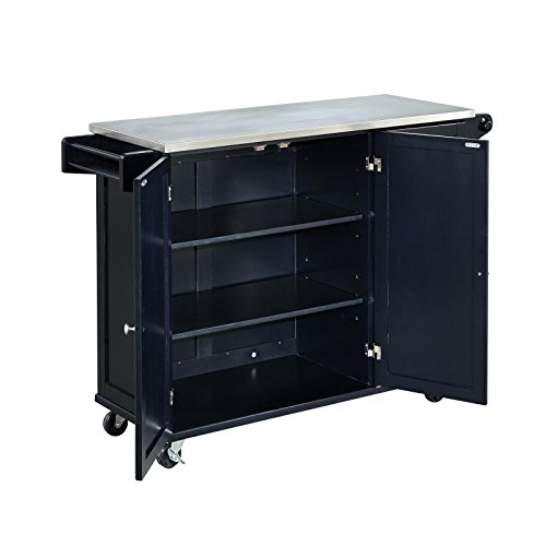 Home Styles 4513 95 Liberty Kitchen Cart With Stainless