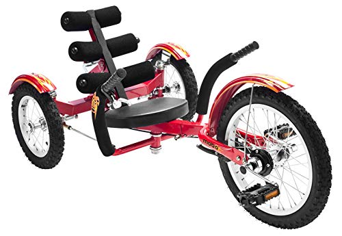 (Mobo Cruiser Mobito Ultimate Three Wheeled Cruiser, Red, 16-Inch)