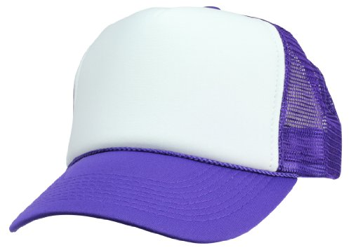 DALIX-Two-Tone-Trucker-Hat-Summer-Mesh-Cap-with-Adjustable-Snapback-Strap
