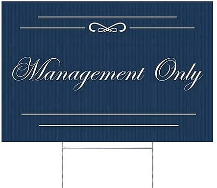 Classic Navy Double-Sided Weather-Resistant Yard Sign CGSignLab 18x12 Management Only