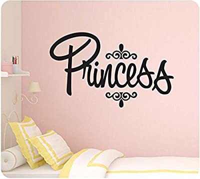 """24"""" Elegant Princess Crown Girly Room Cute Wall Decal Sticker Art Mural Home Décor Quote"""