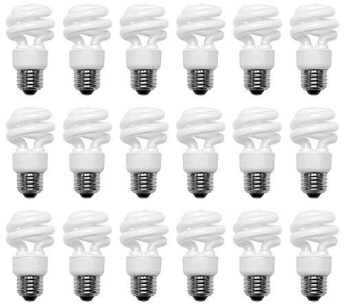 - 40 Watt CFL Bright White (3500K) Spiral 18 Pack