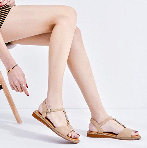 weiwei C Aprire Sandalo Scarpe Toe Donna Casual Spiaggia Strass rqrwPa8