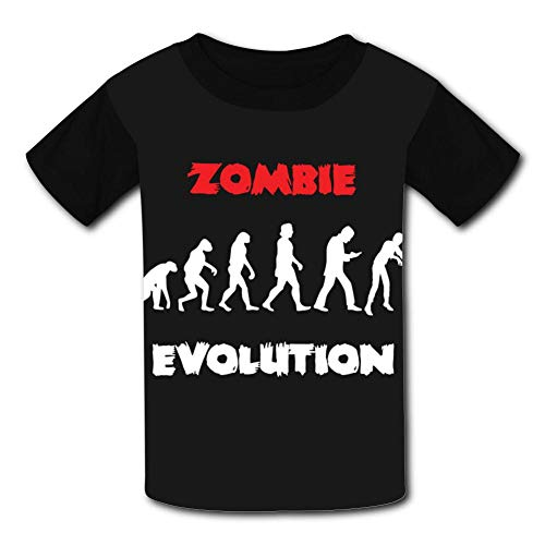 (Unisex Shirts, Zombie Halloween Evolution Casual Short Sleeve T-Shirt Child 3D Printed Tees for)