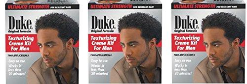 [ Pack Of 3] DUKE TEXTURIZING CREME KIT FOR MEN 1AP (ULTIMATE STRENGTH) Creme Texturizing Kit
