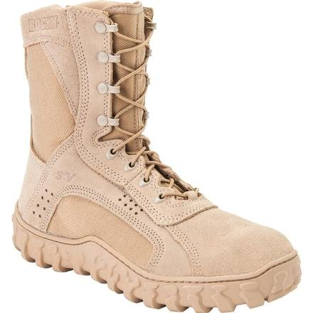 Tan Safety Steel Toe Boots - Rocky Men's S2V Steel Toe Work Boot,Tan,6.5 M US