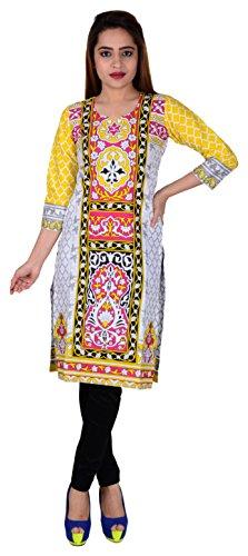 416 SD Fabrics® 100% Pure Cotton Multi Coloured Unstitched Kurti Fabric Material