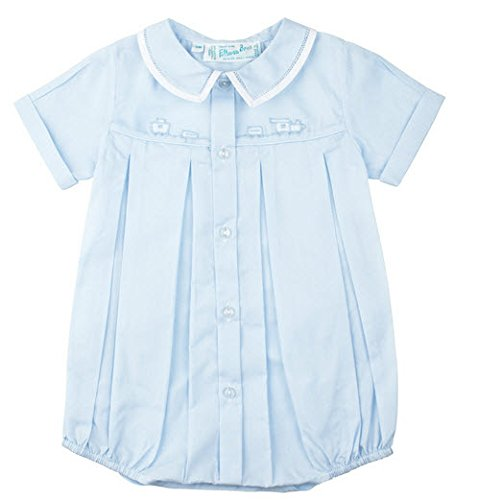 - Feltman Brothers Baby Boys Blue Train Bubble Outfit (9M)