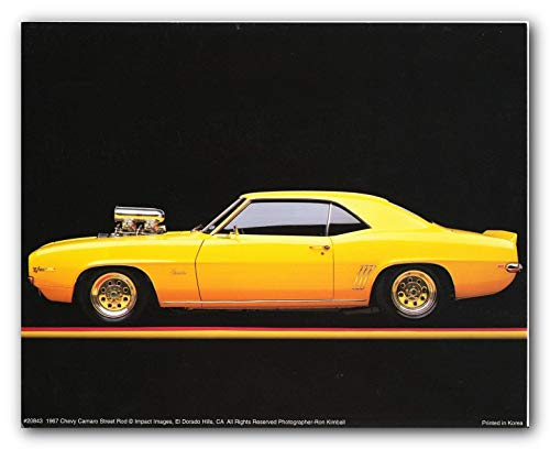 1967 Chevy Camaro Poster Street Rod Vintage Car Art Print Poster (16x20)