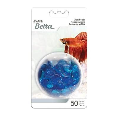 Marina 50-Piece Decorative Marbles, Blue by Marina