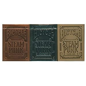 Lot 3 Bicycle Steampunk Playing Cards Silver, USPCC & Theory11 Versions by Bicycle