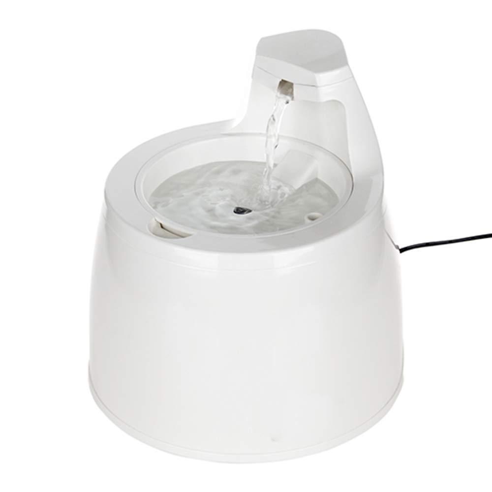 CWY Fuente de Agua Potable Móvil del Dispensador Automático del Agua del Dispensador del Agua del Animal Doméstico, Blanco, 25 * 21.5cm