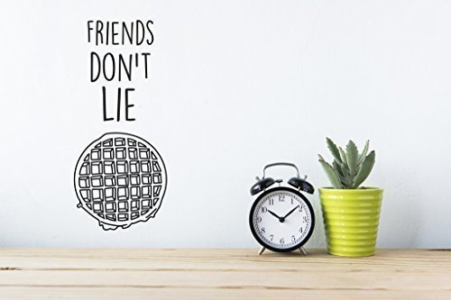 Gdirect Kitchen Living Room Bedroom Decor Artwork Friends Don T Lie Wall Sticker Stranger Things Art Vinyl Decal 50x30cms Buy Online In Dominica At Dominica Desertcart Com Productid 47962577