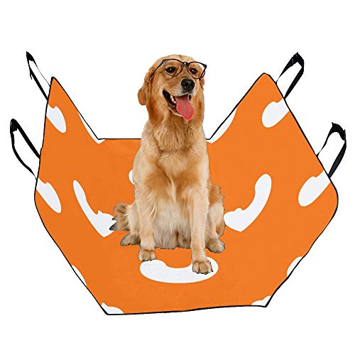 JTMOVING Fashion Oxford Pet Car Seat Cashew Snacks Hand-Painted Waterproof Nonslip Canine Pet Dog Bed Hammock Convertible for Cars Trucks SUV - Cashew Bed Dog