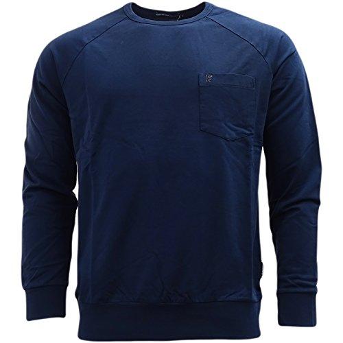 French Connection Herren T-Shirt, Einfarbig blau blau
