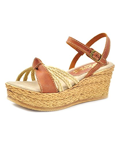 Sbicca Women's Sweetbay Leather Sandal (8 M, Tan)