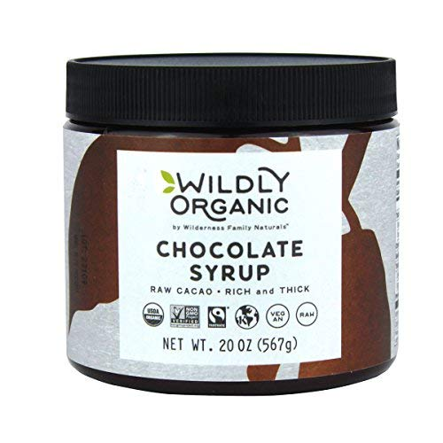 Organic Chocolate Syrup, Fairtrade Certified, Rich And Thick, Made With Only Two Ingredients, Processed Without Heat, Raw, Vegan, Non-GMO, Kosher - 20 Oz