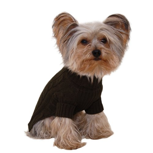 (Stinky G Turtleneck Dog Sweater Olive Green Size #08)