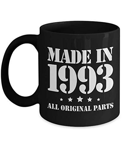 25th Birthday Gifts for Him - Made in 1993 - Happy 25 Year Old Coffee Mug Bday Idea - Unique Present from Mom Dad to Son Boys Boyfriend Nephew Brother