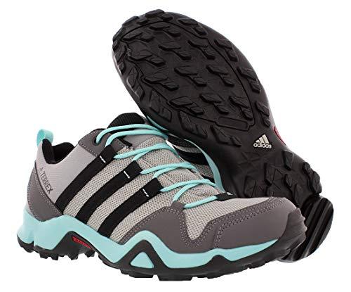 adidas Women's Terrex AX2R Mid GTX Hiking Boot - MGH Solid Grey/Ch Solid Grey/Black, 6.5 2