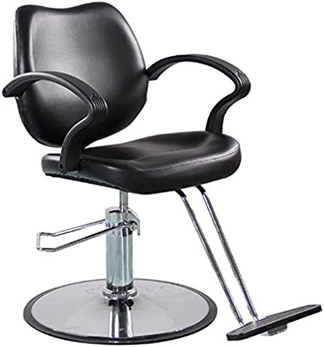 Funnylife Barber Chair Black Stainless Steel Styling Barber Equipment