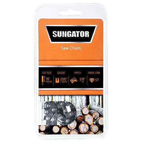 SUNGATOR 16-Inch Chainsaw Chain SG-S57, 3/8
