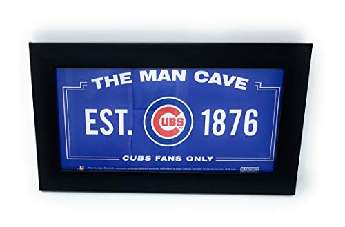 Mister Mancave Chicago Cubs Man Cave MLB Licensed 6x12 Framed Photo Read to Hang ()