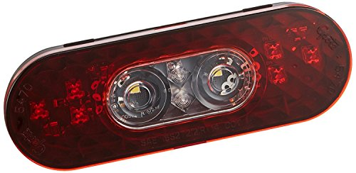 """Grote 54682 6"""" Oval LED Stop Tail Turn Light with Integrated Back-up (Female Pin Termination)"""