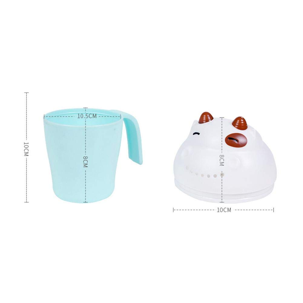 Kids Shampoo Rinse Cup Baby Child Wash Hair Eye Shield Shampoo Rinse Jug Water Spoon Rinser
