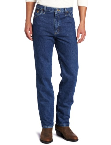 Wrangler Men's George Strait Cowboy Cut Slim Fit Jean,  Dark Stone, 33x30