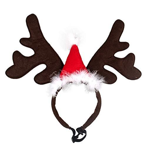 Dog Christmas Reindeer Antler Headband Large Deer Ear Christmas Hat Headwear Christmas Easter Halloween Party Cosplay Costume Pet Cat
