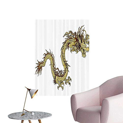 Wall Art Prints eFire Drag Zodiac with Large Claws Symbol of Power Chinese Astrology Theme Mytholo for Living Room Ready to Stick on Wall,24