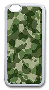 Camo Custom iPhone 6 Case Cover TPU White