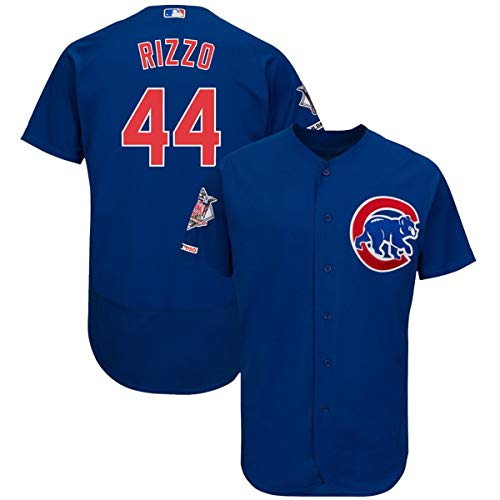 Mitchell & Ness Men's Anthony Rizzo Chicago Cubs Flex Base Player Jersey Blue