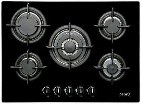 CATA Gas koche quemador 70 cm/hobs Autark/Gas a 8 mm fuerte, cristal negras/5