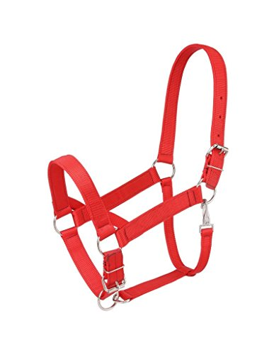 Tough-1 Nylon Draft Halter Red 9550 Snap