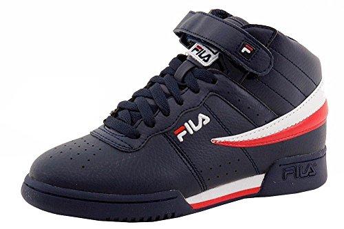 fila basketball shoes 2017. fila boy\u0027s f-13 navy/white/red mid-top basketball sneakers shoes sz: 6.5 2017