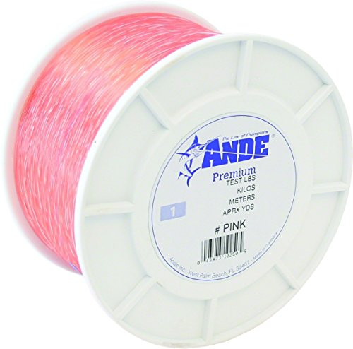 Line Monofilament 1 Lb Spool - Ande Premium Monofilament Line with 20-Pound Test, Pink, 1-Pound Spool (2400-Yard).