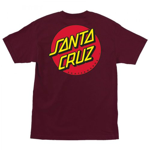 Santa Cruz Men's Classic Dot T-Shirt X-Large Burgundy